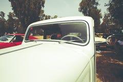 以色列, PETAH TIQWA - 2016年5月14日:技术古董的陈列 经典雪铁龙汽车在Petah Tiqwa,以色列 免版税库存图片