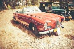 以色列, PETAH TIQWA - 2016年5月14日:盛大游览车汽车BMW 503, 1958年 技术古董的陈列在Petah Tiqwa,以色列 免版税库存图片