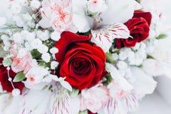 以花束的形式婚姻的floristics 免版税图库摄影
