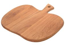以苹果或南瓜isola的形式木切板 免版税库存图片