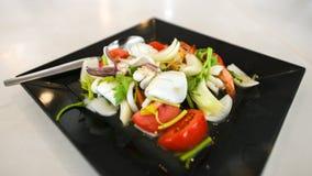 以辣沙拉的形式海鲜 库存照片