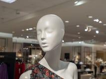 以部门时尚被显示的母时装模特头s 免版税库存照片