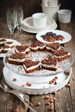 以重点的形式饼干蛋糕用巧克力 库存照片