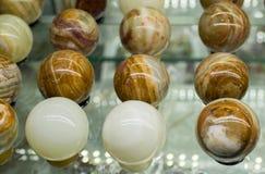 以鸡蛋的形式大理石 库存照片
