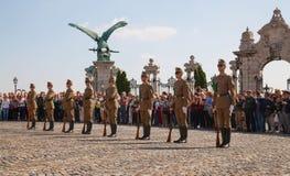 仪仗队在布达佩斯,匈牙利 库存图片