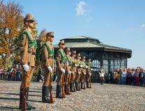 仪仗队在布达佩斯,匈牙利 免版税库存图片