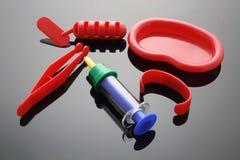 仪器医疗玩具 免版税库存图片