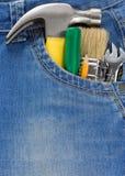 仪器牛仔裤工具 免版税图库摄影