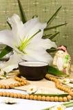 仪式仍然生活传统东方人的茶 库存图片