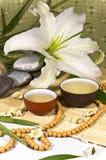 仪式仍然生活传统东方人的茶 免版税库存照片