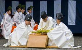 仪式收获米 免版税库存照片