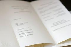 仪式日婚礼 免版税库存图片