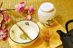 仪式日本人茶 免版税图库摄影