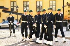 仪式更改的卫兵战士等待 免版税库存照片