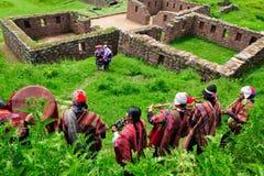 仪式秘鲁传统婚礼 免版税图库摄影