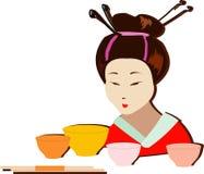 仪式茶 免版税库存照片
