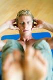 仰卧起坐锻炼 免版税库存照片