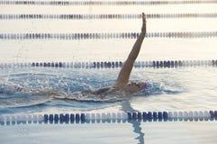 仰泳女性 免版税库存图片