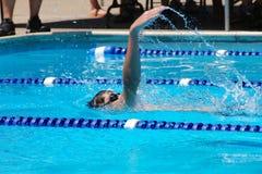 仰泳活动 图库摄影