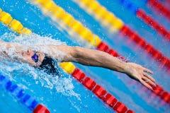 仰泳 免版税图库摄影
