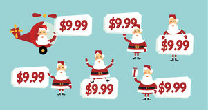 价格圣诞老人标签 库存图片