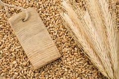 价格峰值标签麦子 库存照片