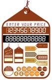 价牌向量 免版税库存图片