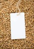 价牌麦子 免版税库存图片