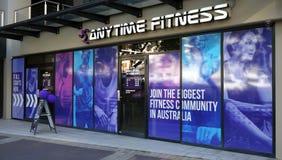 任何时候健身Edgecliff入口外部 健身是一个最大的健身房链子在提供24小时通入的澳大利亚 图库摄影