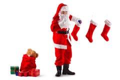 任务s圣诞老人 免版税库存照片