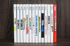 任天堂的Wii各种各样的Wii比赛 Wii比赛圆盘 库存照片