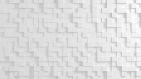 任意地被挤压的立方体抽象几何纹理  皇族释放例证