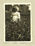仿古女孩原始照片年轻人 库存图片