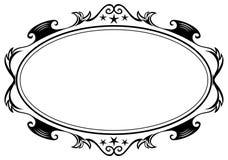 仿古框架长圆形 库存图片