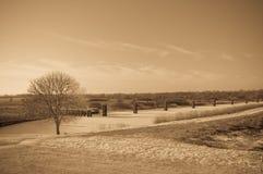 仿古荷兰语横向口气冬天 库存照片