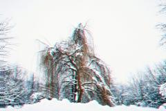 仿照彩色立体图样式的木头 抽象背景蓝色开花雪花向量冬天 免版税库存照片