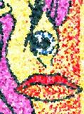 仿照毕加索样式的面孔 图库摄影