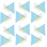 仿造三角蓝色杂文并且指向金三角 免版税图库摄影