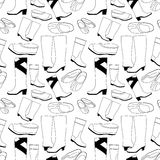 仿造无缝的鞋子 免版税库存图片
