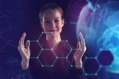 企业、技术、互联网和网络概念 年轻suc 免版税库存图片