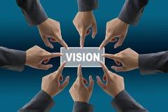 企业不同的小组远见 免版税库存图片