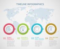 企业与处理步的图时间安排 传染媒介进展流程图infographics模板 图库摄影
