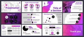 企业与梯度和黑圈子的介绍模板 向量例证