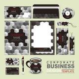 企业与灰色极谱块的公司本体模板 免版税库存照片
