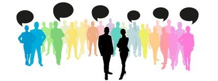 企业与通信概念的队小组 向量例证