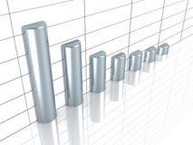 企业与银条的增长图形 库存例证