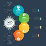企业与4个选择的介绍概念 a网模板  免版税库存图片
