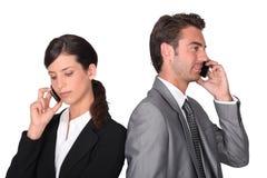 企业专业人员联系 免版税库存图片