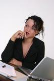 企业业余时间等待的妇女 免版税库存照片