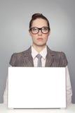 企业严重的妇女 免版税库存图片